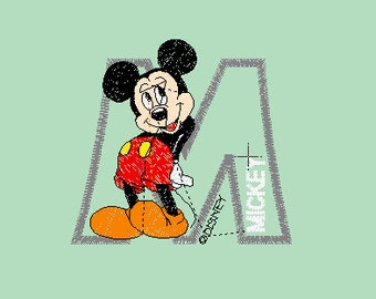mickey mouse machine embroidery design PES