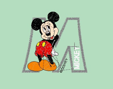 mickey mouse machine embroidery designs