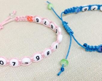Kids Phone Number Bracelet