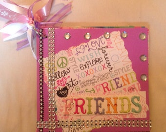 6x6 Friends mini scrapbook album