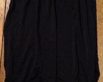 black Vanity Fair slip skirt