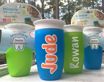 Personalized Miracle 360 cup, Munchkin 360, Daycare, Personalized Sippy cup, Childs cup with name, Ring Bearer Gift, Flower Girl Gift