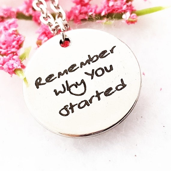 CrossFit Gifts, CrossFit Charm Necklace, Remembered Why You Started, Sports Charms, Fitness Jewelry, Inspirational Gifts, Motivational Quote