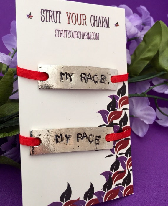 Shoelace Tags, Shoe Lace Charms, Marathon Running Shoe Tag, My Race My Pace, Customized Personalized Motivational Gift, Gifts for Runners