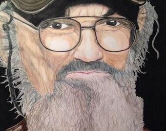 Si Robertson Portrait -colored pencil