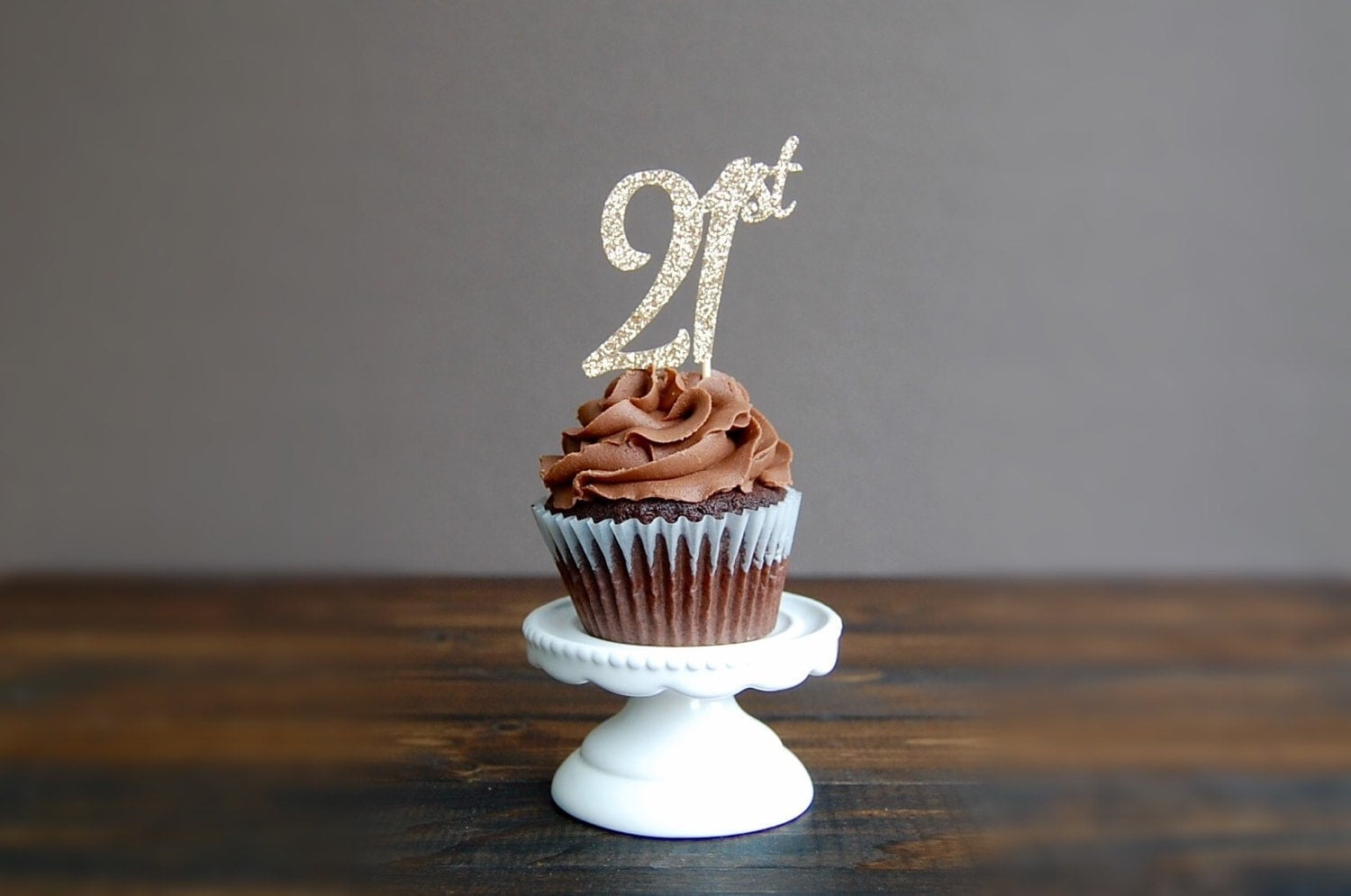 Cupcake Decorating Ideas For 21st Birthday : Cupcake toppers birthday twenty first cupcake toppers 21st