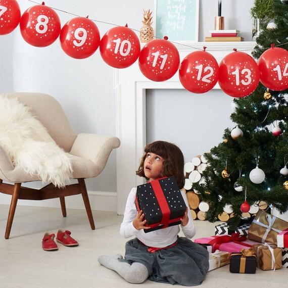 Balloon Advent Calendar and Activity Kit|Christmas countdown|Advent calendar kit with silver origami stars
