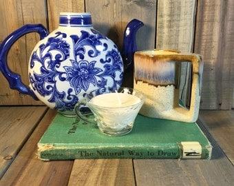 Decorative Blue Floral Teapot