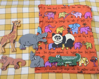 Wooden Wild animals - pack 1