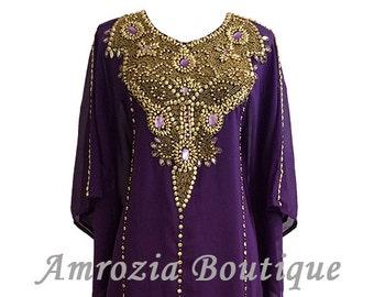 Farasha Kaftan Maxi Dress Gown Abaya Jalabiya Jilbab