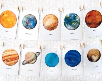 Space • Solar System • Planet • A6 Postcards