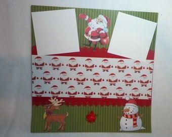 Handmade Scrapbook Page Premade 12 x 12 Scrapbook Page Christmas