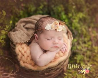 Valentines Collection D, Newborn dainty headband, newborn tieback, newborn photography prop - RTS