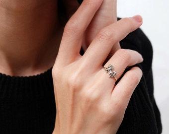 unicorn ring, unicorn jewelry, unicirn, unicorn knuckle ring, knuckle ring, layering ring, silver unicorn ring, midi ring, stacking ring