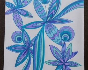 Purple/Blue Flowers No. 3