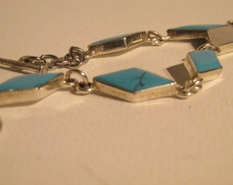 Silver Bracelet with Turquoise stones
