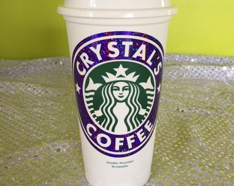Sparkly Sparkle Personalized & Customized Starbucks Cup - Personalized Coffee Tumbler