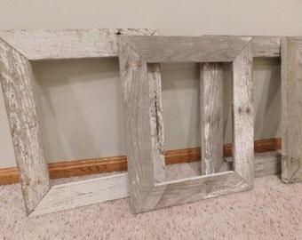 11x14 Gray & White Barnwood frame (#5318)