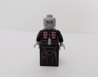 Pinhead from Hellraiser  custom Minifigure made from Lego parts