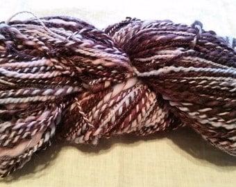 Handspun bulky yarn - licorice