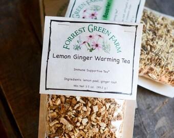 Lemon Ginger Warming Tea