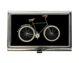 Fixed Gear Bicycle Business Credit Card Holder Case