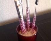 High Quality glitter makeup brush set, Pink Ice