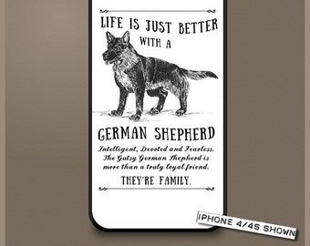 German Shepherd dog phone case cover iPhone Samsung ~ Can be Personalised