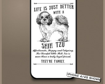 Shih Tzu dog phone case cover iPhone Samsung ~ Can be Personalised