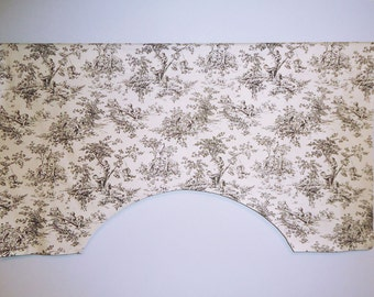 P Kaufmann Central Park Baby Toile Custom Valance, Black and White