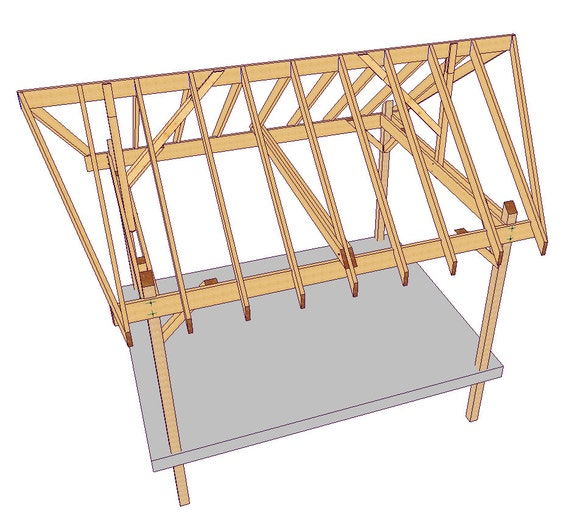 3 6 x 4 8 m gable bali hut diy plans for A frame hut plans