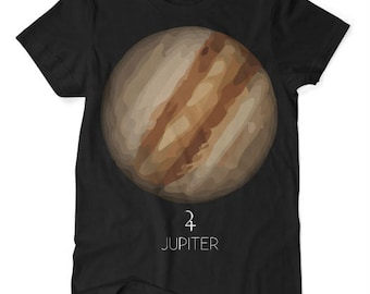 Jupiter Planet TShirt Black