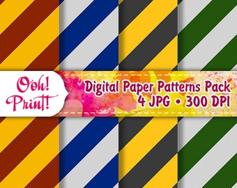 Digital Scrapbook Harry Potter Patterns Instant Download Hogwarts Art Background Wizarding School Scrapbook Printing Paper for Invitations