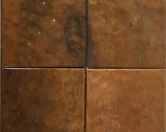 Copper Subway Tiles Set of 4