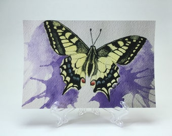 Postcard - Original Watercolor Print of a Swallowtail Butterfly