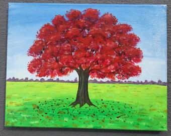 Autumn tree - Acrylic Painting