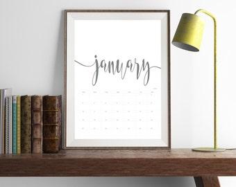 2017 Printed Calendar | Personalised | Simplistic #01604
