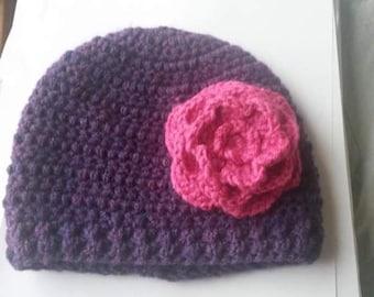 Beautiful Oversized Flower Beanie Hat