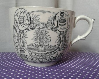 ADAMS, England large farmers arms cup . made 1871-1900