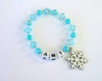 Frozen Inspired Personalised Name Bracelet