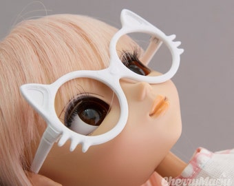 """Maou"" glasses for doll Pullip, 3D printing"