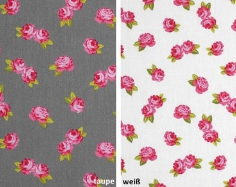 Miniature rose - cotton fabric with small rose - 0, 5 m