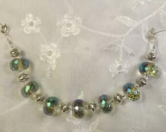 Stunning Glass Rondelle Cut Beaded Bracelet