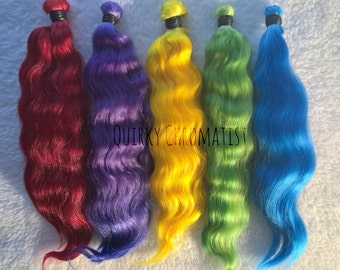 """Mohair Custom Colored OOAK for Blythe Doll, Pullip Doll, Wig, Reroot 2oz. 6+"""""""