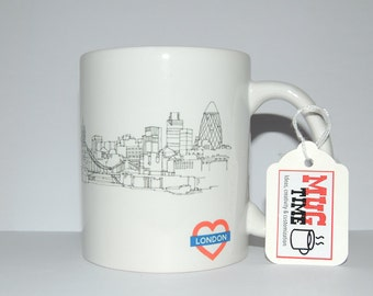 London Skyline Drawing - 11oz Ceramic Coffee Cup Mug