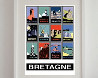 """Displays """"Brittany"""" 50 x 70 cm - poster, poster vintage, retro poster"""