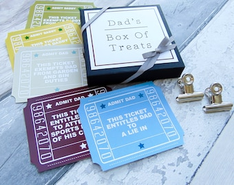 Father's Day Box Of Treats| Gift for Dad|Daddy|Tickets|Vouchers