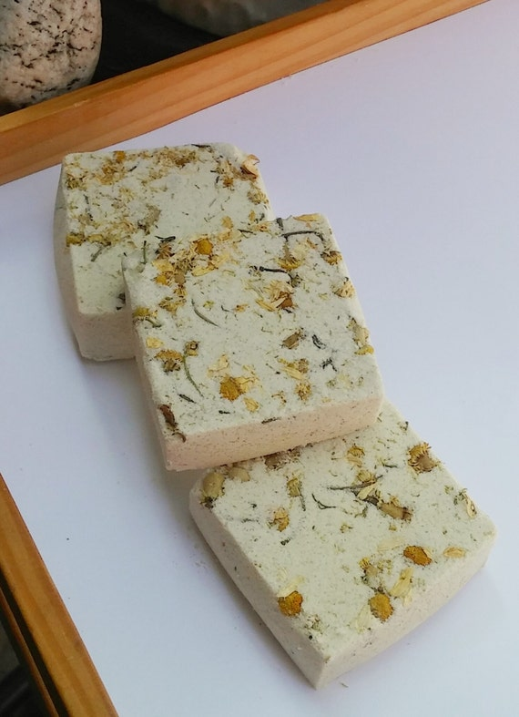 Bath Bomb - Organic Chamomile & Wild Orange Bath Fizzy, Melt, Spa Bath, Foot Soak, Essential Oil Infused, Eco Friendly, Natural