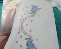 Extra #133 Vintage blue Dove pillow case Kit with FREE SHIPPING
