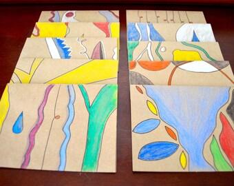 Modern Art Cards (Blank inside with Envelopes)